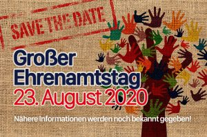 SAVE THE DATE – Großer Ehrenamtstag am 23. August 2020